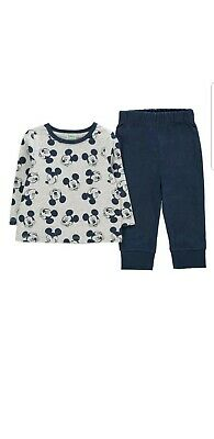 Disney mickey Mouse blue Pyjamas 18-24 Months lovely