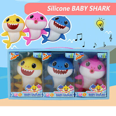 2019 Baby Shark Plush Singing Plush Toys Music Dolls English Song LED Lights
