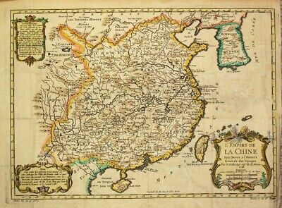 """1748  Lovely Large Bellin Map of China and Korea - early """"Sea of Korea"""""""