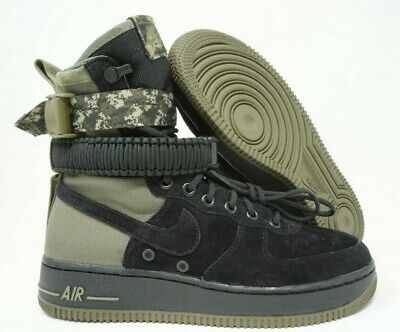 e7a493a934 Nike Air Force 1 AF1 SF Special Field Mens High Boot Shoes Black Olive Camo