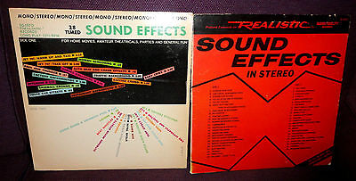 2 X REALISTIC EARLY 70s US SOUND EFFECTS VINYL LPs DLP-166