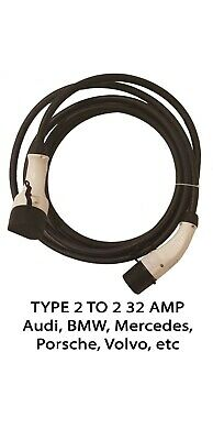32 AMP EV Charging Cables Type 2 to 2 5 meters | EV / Electric Car Charger Cable
