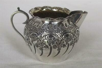 A Stunning Antique Solid Sterling Silver Victorian Cream Jug Sheffield 1893.