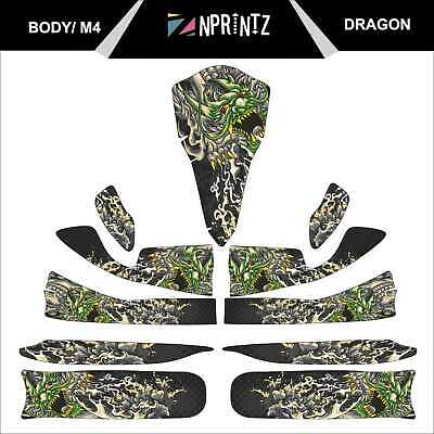 M4 Dragon Full Kart Sticker Kit - Karting - Otk - Evk M4
