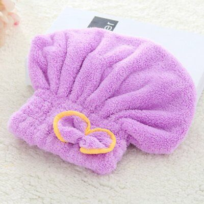 Women Hair Quick Drying Microfiber Towel Turban Loop Wrap Head Hat  AO