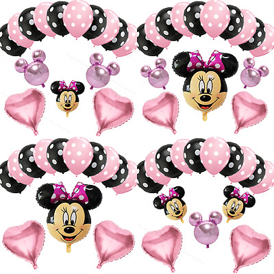 Disney Minnie Mouse Birthday Balloons Foil Latex Party Decorations Gender Reveal