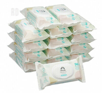Amazon Brand - Mama Bear Sensitive Unscented baby wipes– Pack of 15 (Total...