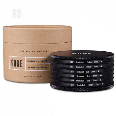 Gobe Graduated Colour 77mm Filters: Orange, Blue, Grey, Red, Yellow, Green