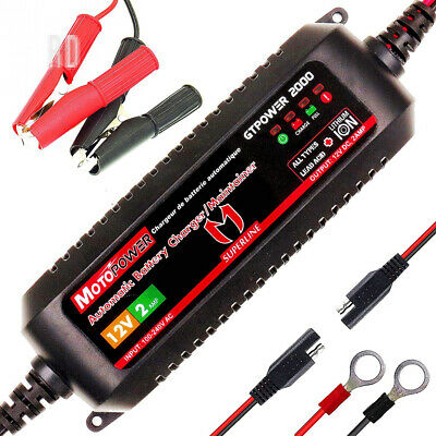 MOTOPOWER MP00207A 12V 2Amp Smart Automatic Battery Charger/Maintainer for...