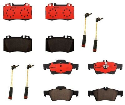 Brembo Brake Pads >> Front Rear Brembo Brake Pads With Sensors Kit For Mb W212