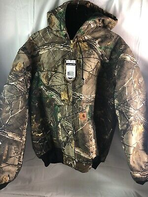 327e363c57beb Carhartt Men's Big & Tall Quilted Flannel Lined Camo Active Jacket, Large  Tall