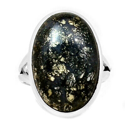 Xtremegems Blue Lace Agate 925 Sterling Silver Ring Jewelry Size 8 26732R
