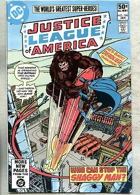 Justice League Of America #186-1981 vf Shaggy Man George Perez