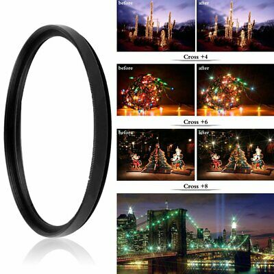 8 Line ZOMEI Star Filter Perfect Points Optical Glass Lens Filter AccessorieN S@