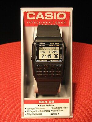 Vintage 1980s From Casio 600 50Calculator Telememo Wristwatch Dbc y0OwPv8nNm