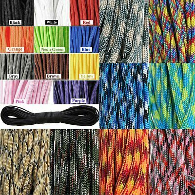 2017 550 Paracord Parachute Cord Lanyard Mil Spec Type III 7 Strand Core100FT Y0