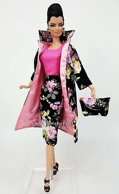 Eaki Dress Outfit Gown Coat Fits Barbie Silkstone Vintage Repro Fashion Royalty