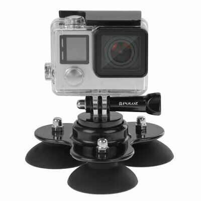 Triangle Suction Cup Mount Tripod with Screw for GoPro HERO 5 4 3+ 3 2 Camera YF