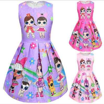 New Kids Girl  Surprise !!Doll Princess Dress Party Birthday Holiday Dress 3-8Y