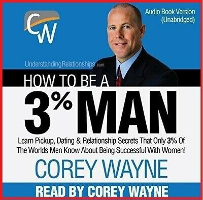 How to Be a 3% Man by Corey Wayne - AUDIOBOOK (e-Delivery)
