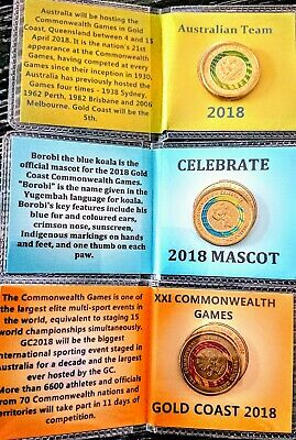 2018 XXI Commonwealth Games 3 x $2 Coins in custom flip folders Set Rare Coins