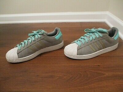 best service 97325 dd3e7 Used Worn Size 11 Adidas Superstar II Shoes Gray, Aqua, White, Black