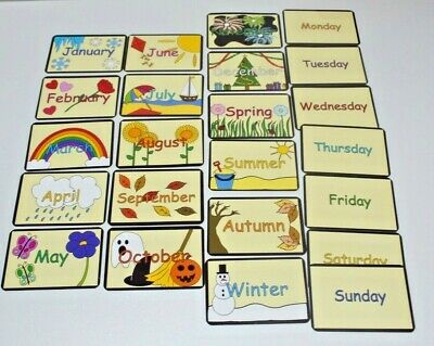 Days Of The Week / Months / Seasons - FLASH CARDS Educational Learning Pack