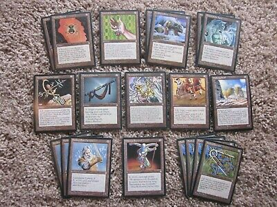 Commons /& Uncommons in variable condition w// 12 rares Lot of 200 MtG Ice Age