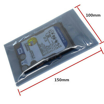 100pcs 100mmx150mm Anti-Static Zip Lock Bag for SSD HDD and Electronic Device