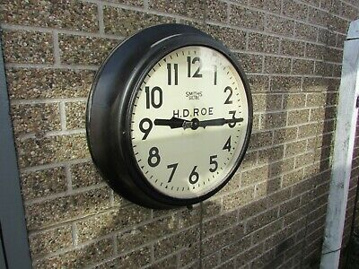 1930-40s Large 24 inch Smiths Sectric Wall Clock.