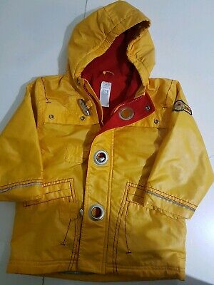 Carter's Boys Yellow Fire Chief Hooded Fleece Raincoat 24 Months