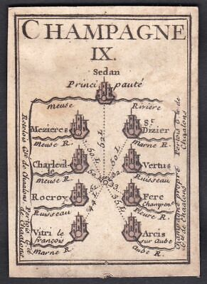 1780 Champagne Frankreich playing card carte a jouer cards cartes Spielkarte