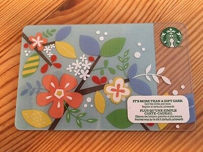 "Canada Series Starbucks ""SPRING FLOWERS 2014"" Gift Card - New No Value"