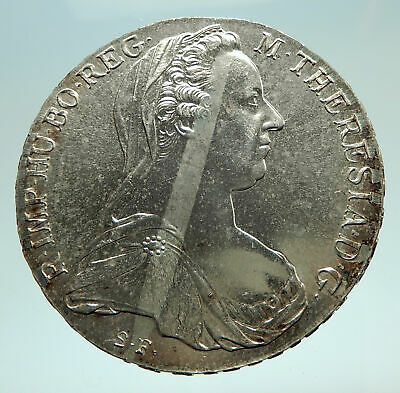 1780-1960 Maria Theresa Austria Germany Queen Silver Thaler Large Coin i76150