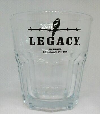 vintage Legacy Blended Canadian Whisky glass NICE VERY HTF