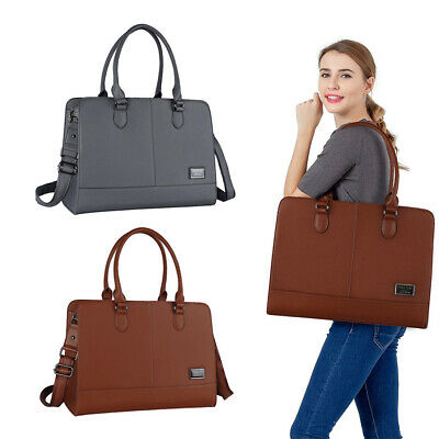 Laptop Tote Bag for Women Girl Premium Leather Work Travel Shoulder Handbag 2018