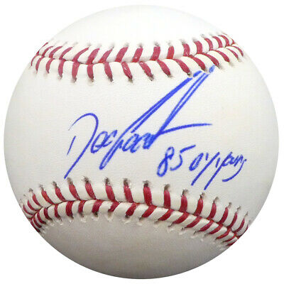 "Dwight ""Doc"" Gooden Autographed MLB Baseball Mets ""85 Cy Young"" PSA Q59518"