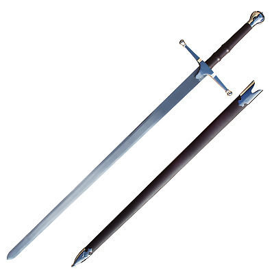 "William Wallace Brave Heart 44"" Sword Authentic Medieval Scotland Armor Handmade"