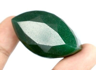 Natural Brazilian Green Emerald Loose Gemstone 163.10 Ct/45mm Marquise Cut