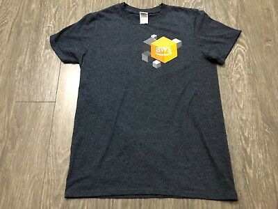 AMAZON WEB SERVICES Company AWS T-SHIRT Small Used