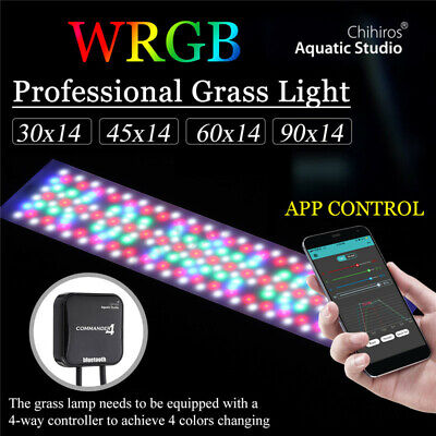Chihiros WRGB LED Aquarium Fish Tank Light Plant Grow Lamp Bluetooth Commander 4