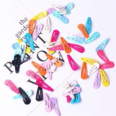 30pcs/lot Candy Color Paint Hair Snap Clip Hairpin Barrette for Baby Girls Gifts