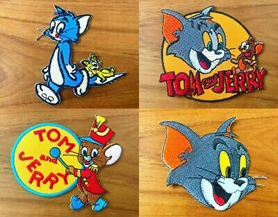 Tom And Jerry cartoon Logo Sew Iron On Patch Embroidered Applique-Store