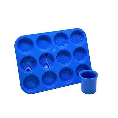 Set of 2, Votive Candle Mould & Wax Melt Tart Tray, Swirl, Heart etc. S7751