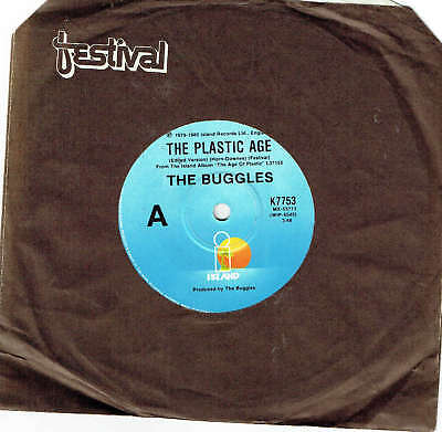"The Buggles - The Plastic Age - 7"" 45 Vinyl Record - 1980"