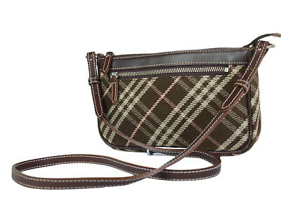 263898bba Auth BURBERRY LONDON BLUE LABEL Canvas Leather Browns Cross-body Shoulder  Bag