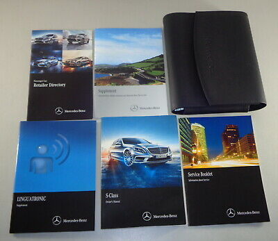 Owner's Manual + wallet Mercedes Benz S-Class W221 S 350 400 500 AMG etc. 2013
