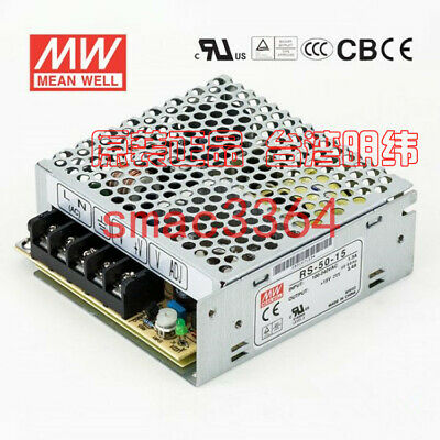 1PC Mean Well power supply RS-50-15 15V 3.4A