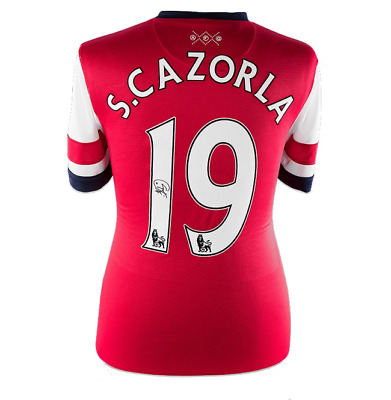 dff02092a Santi Cazorla Gunners Signed Arsenal 19 Football Shirt See Proof   Coa  Soccer