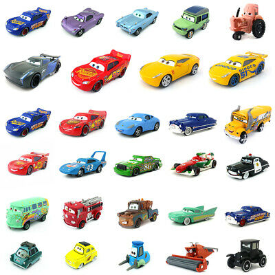 Disney Pixar Cars 2 & 3 McQueen Cruz Jackson Storm Toy Car Model 1:55 Kids Gift